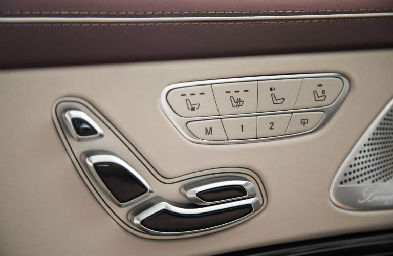 seat adjust buttons in the 2018 Mercedes-Benz S-Class