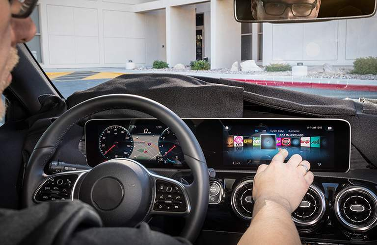 using the Mercedes-Benz User Experience in the 2019 Mercedes-Benz A-Class