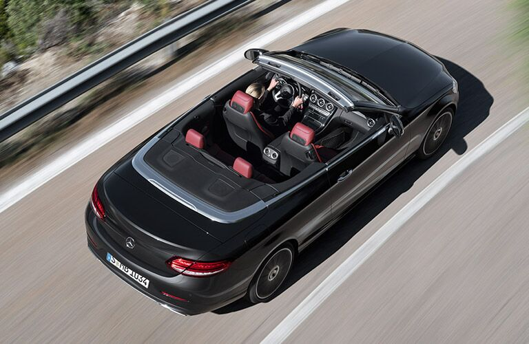 overhead view of the 2019 Mercedes-Benz C-Class Cabriolet