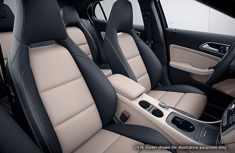 2018 Mercedes-Benz GLA interior seats shown to illustrate appearance of 2019 Mercedes-Benz GLA