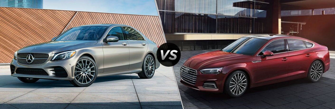 2019 Mercedes-Benz C-Class Vs. Audi A5 split screen comparison
