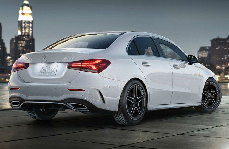 rear of 2019 mercedes-benz a-class