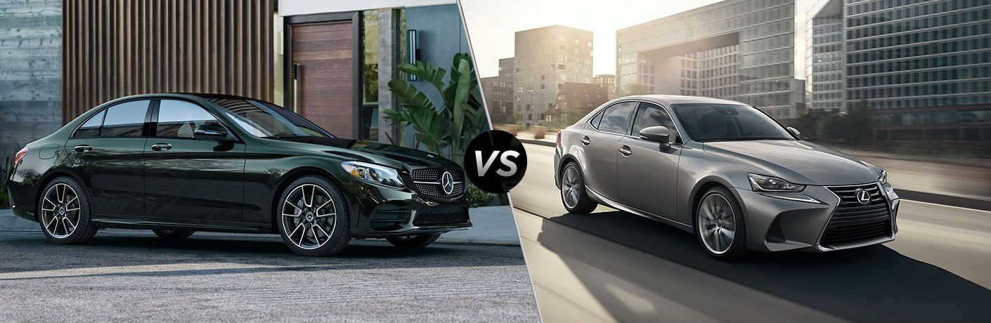 2019 Mercedes-Benz C-Class Vs. 2019 Lexus IS splitscreen comparison