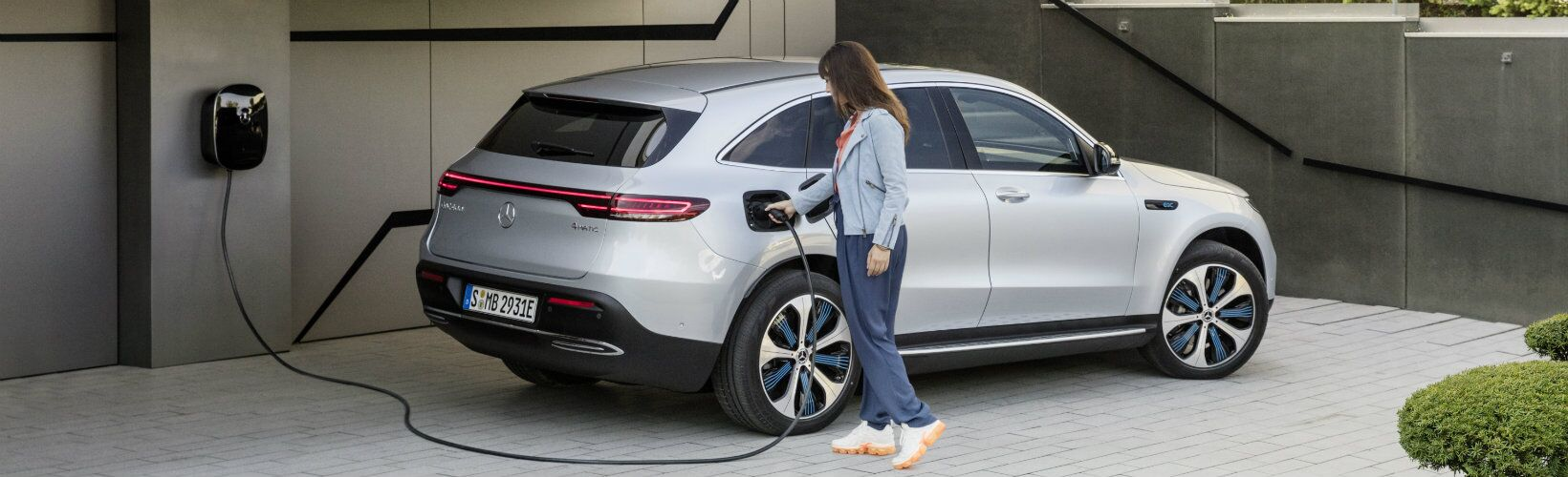 2020 Mercedes-Benz EQC being charged