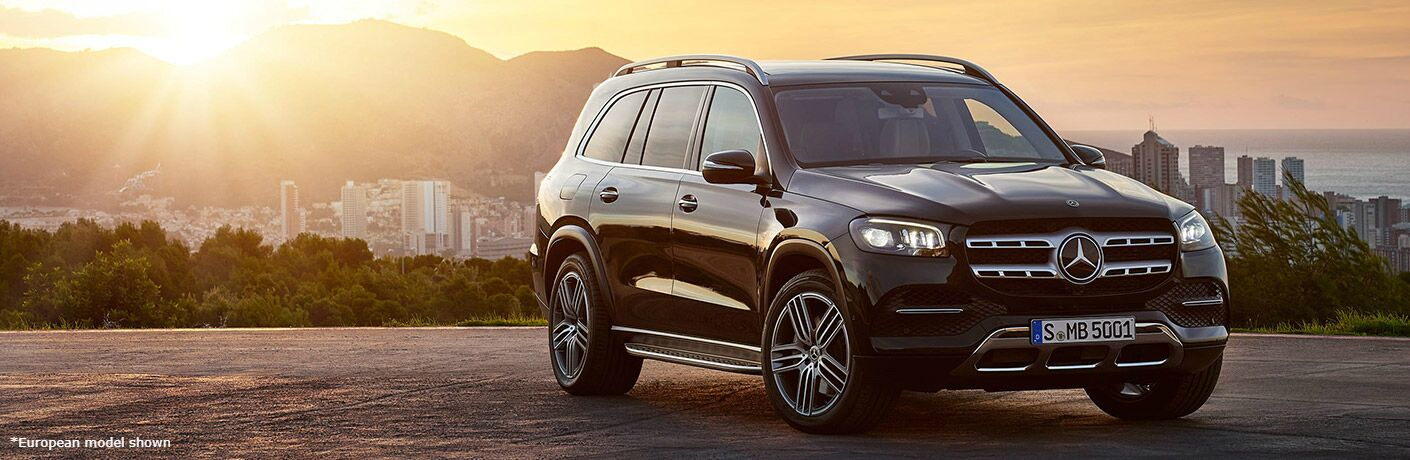 2020 Mercedes-Benz GLS in front of sunset