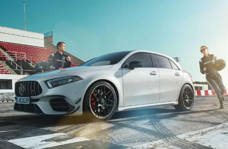 2020-Mercedes-AMG A-Class on track