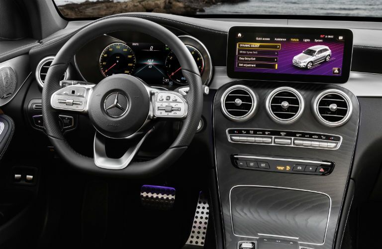 interior of 2020 mb glc compact suv