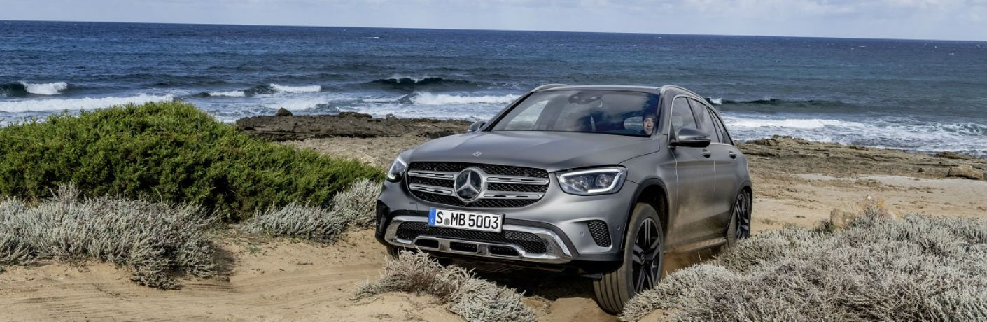 2020 Mercedes-Benz GLC crawling over the beach