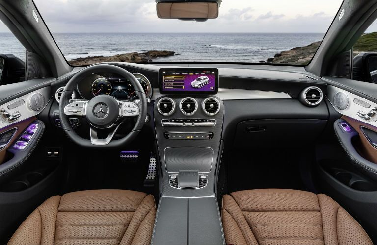 interior of 2020 mb glc from rear seats