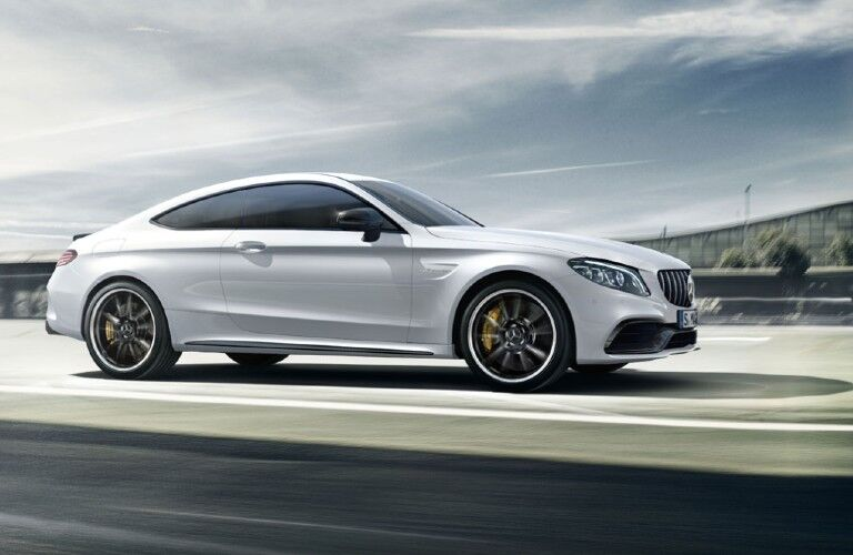2020 Mercedes-AMG C-Class Coupe on road