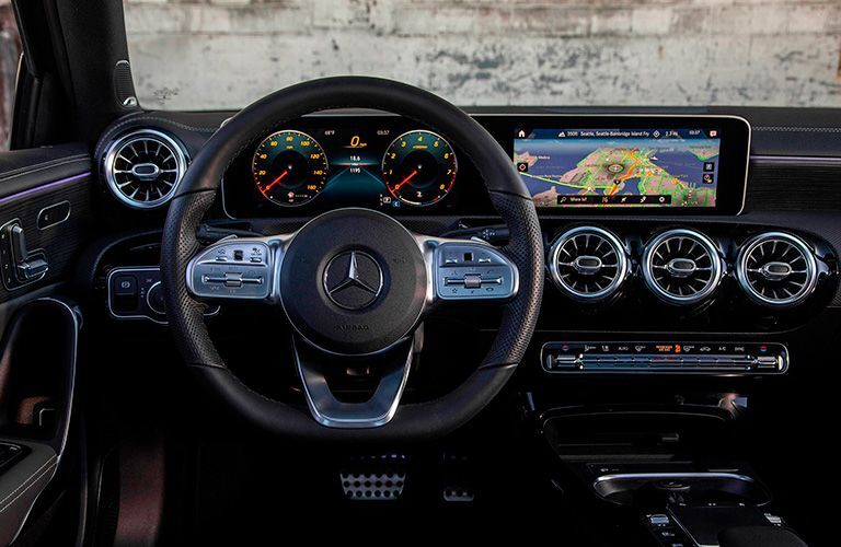 2021 Mercedes-Benz A-Class dashboard and steering wheel