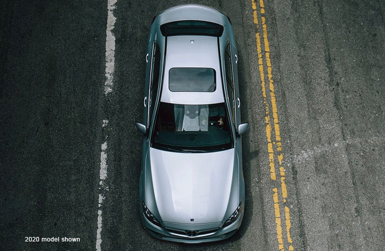 2021 Mercedes-Benz C-Class viewed from above (2020 model shown)