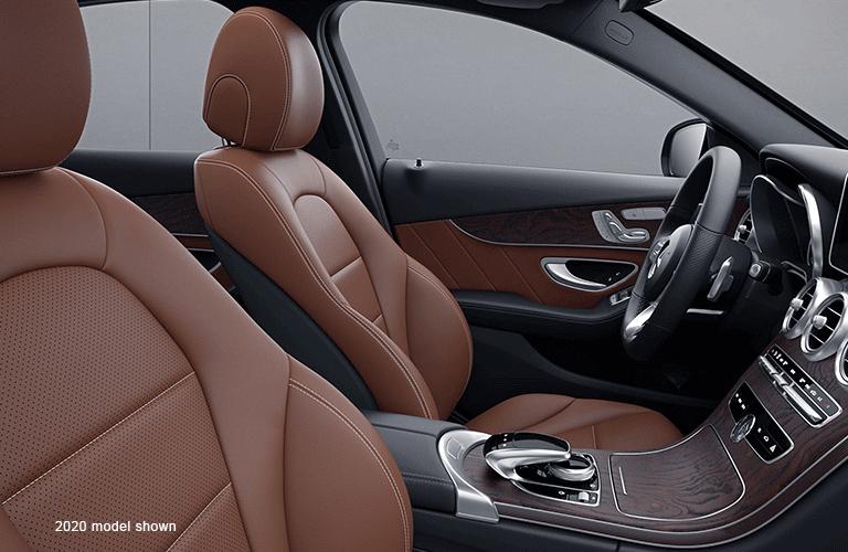 2021 Mercedes-Benz C-Class front seats (2020 model shown)