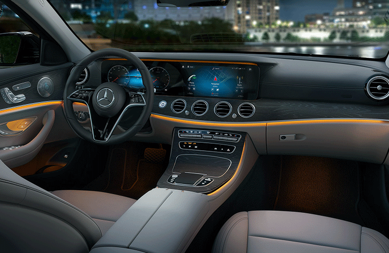 2021 Mercedes-Benz E-Class dashboard and steering wheel
