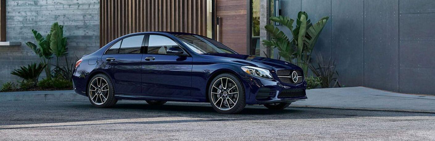 2021 Mercedes-Benz C-Class in driveway