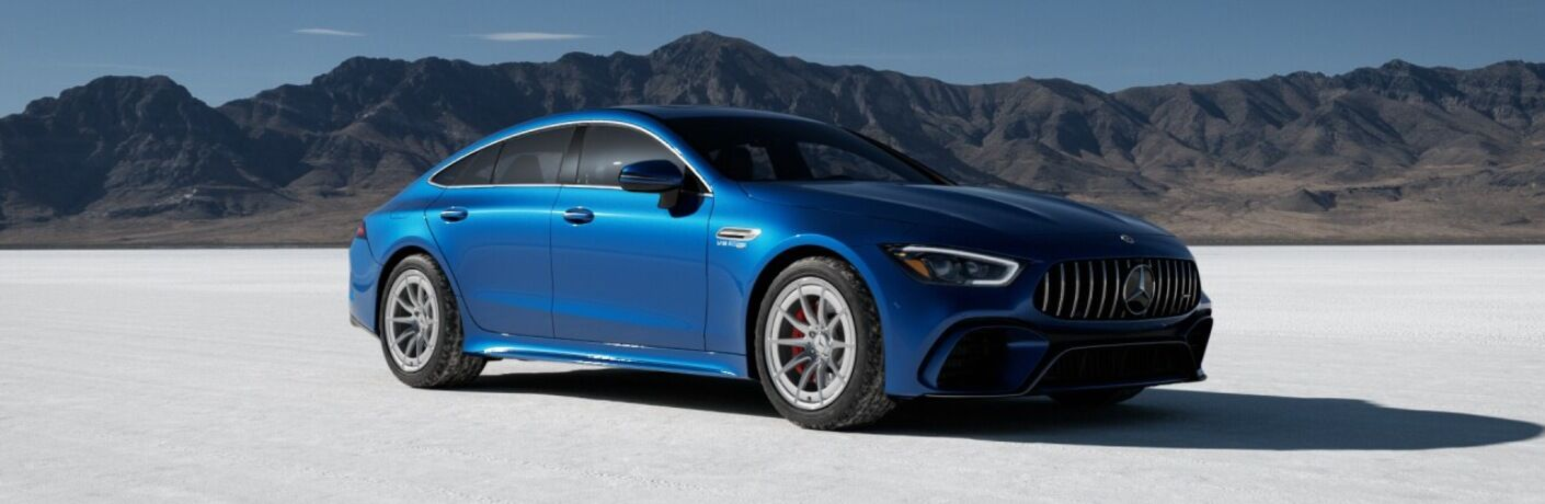 2021 Mercedes-AMG® GT 63 blue side view