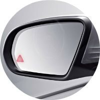 Active Blind Spot Assist in the 2016 C-Class