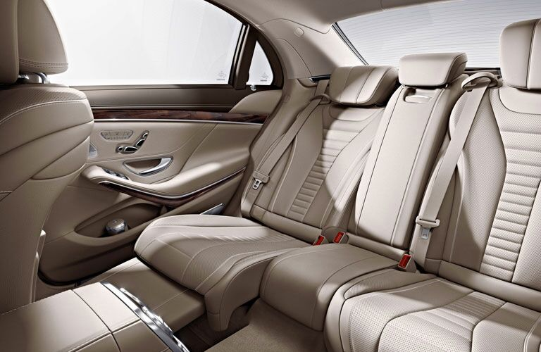 luxurious rear seats of the 2017 Mercedes-Benz S-Class
