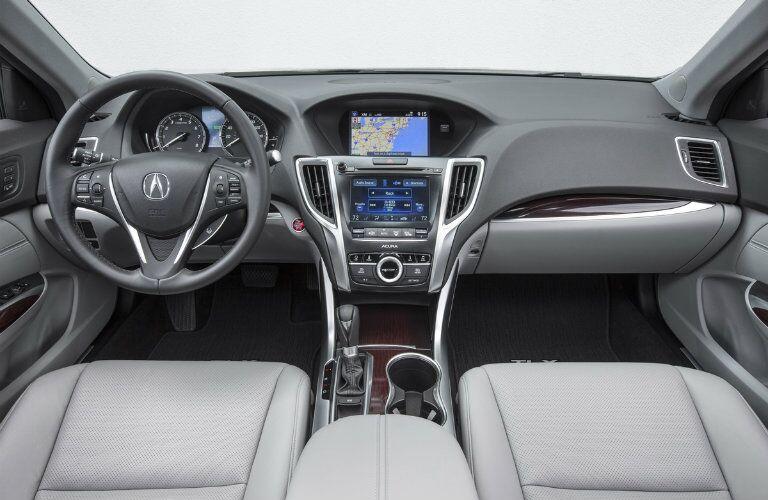 2017 Acura TLX leather interior