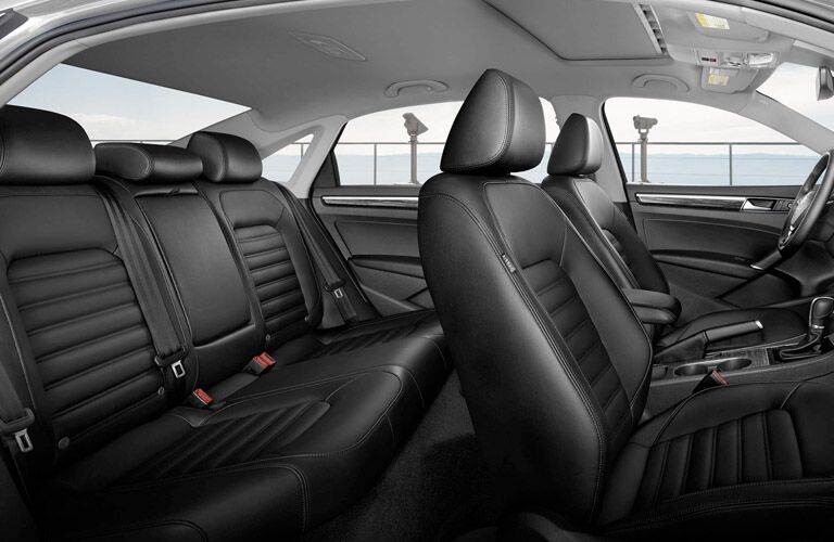Black 2017 VW Passat Leather Interior and Seating