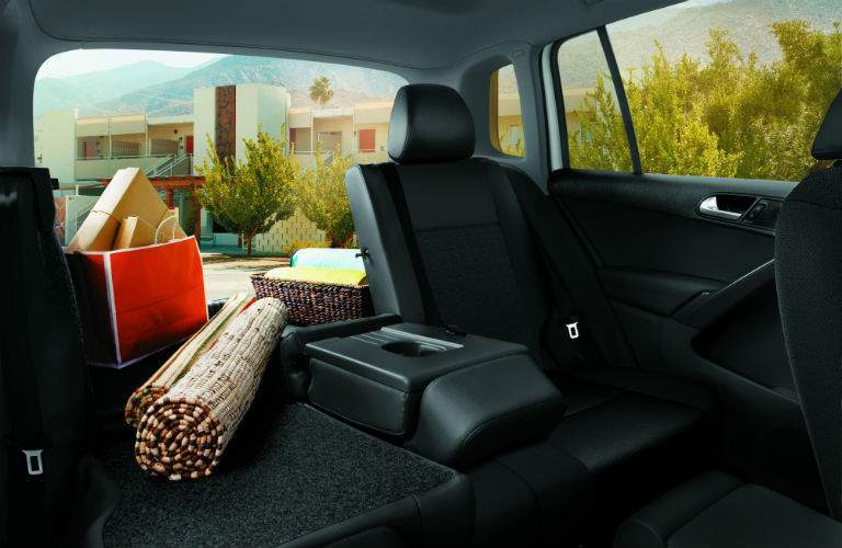 There is still plenty of cargo space in the 2017 Tiguan Limited