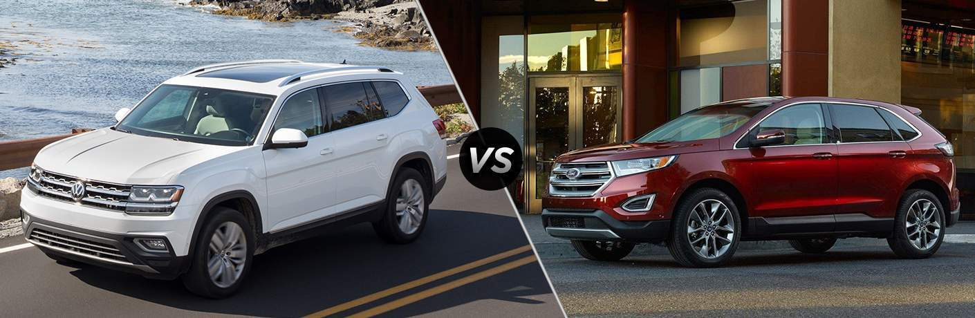 A side-by-side comparison of the 2018 Volkswagen Atlas vs. 2018 Ford Edge