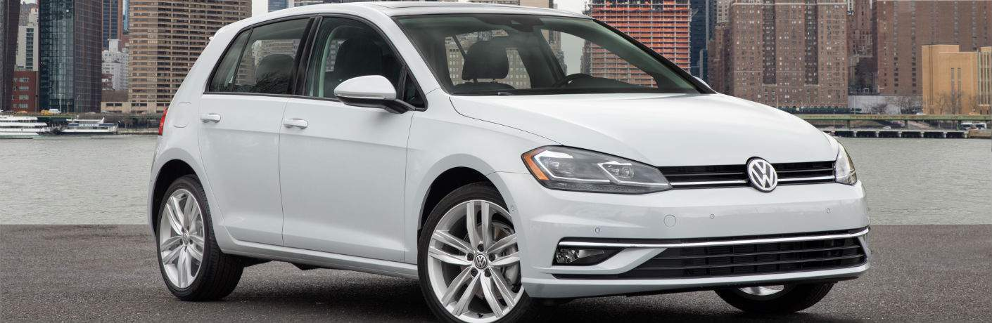 2018 Volkswagen Golf in Amherst, OH in white showing a front right quarter view