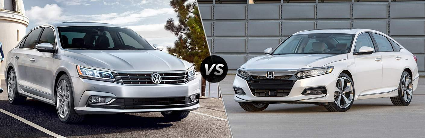 A side-by-side comparison of the 2018 Volkswagen Passat vs. 2018 Honda Accord