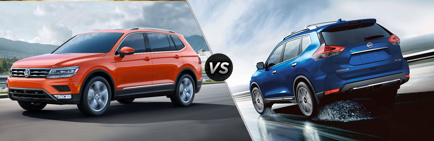 A side-by-side comparison of the 2018 VW Tiguan vs. 2018 Nissan Rogue.