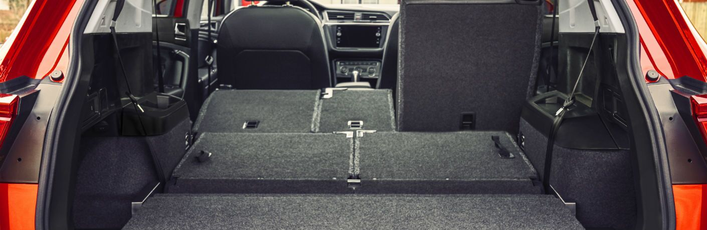 A photo of the cargo space available in the 2018 Volkswagen Tiguan.