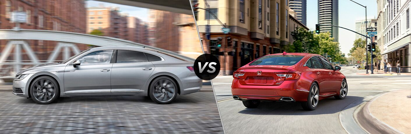 A side-by-side comparison of the 2019 Volkswagen Arteon vs. 2018 Honda Accord