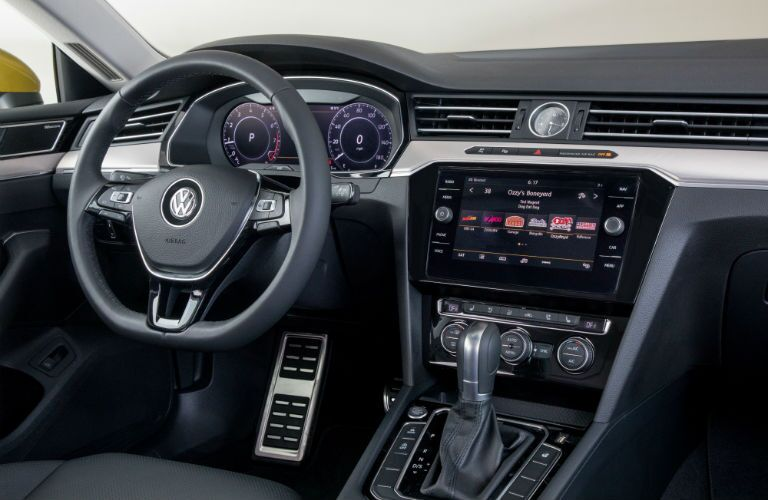An interior photo showing all of the technology available in the 2019 Arteon.