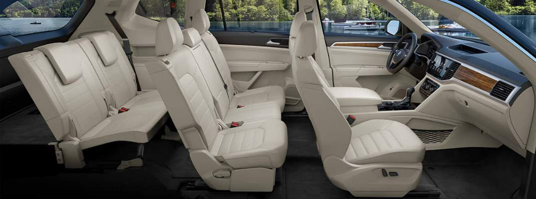 A cut-away view of the 2018 Atlas and all three rows of its available seating options