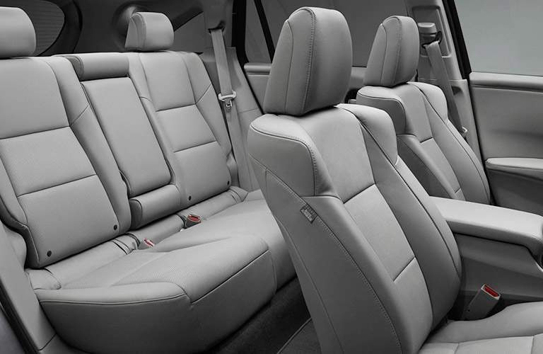 front and rear seats inside the 2018 Acura RDX