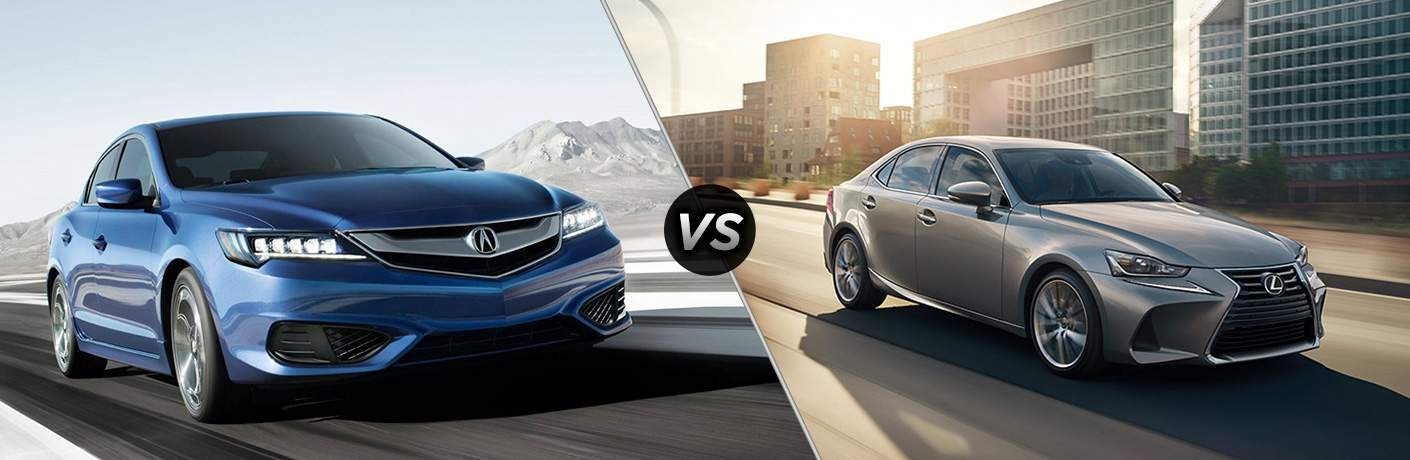 A side-by-side comparison of the 2018 Acura ILX vs. 2018 Lexus IS 200t