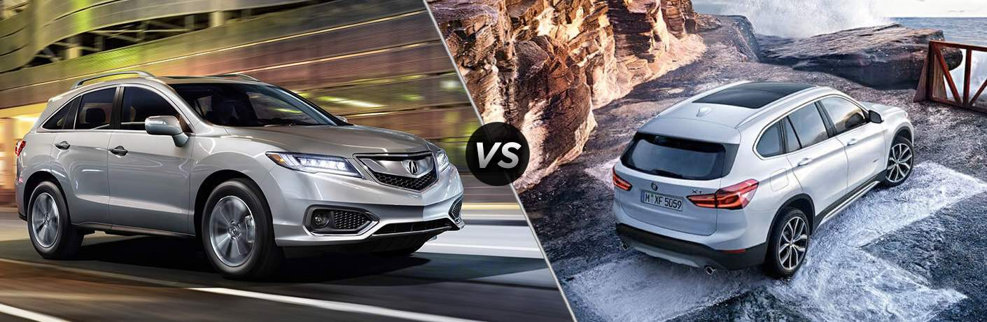 A side-by-side comparison of the 2018 Acura RDX vs. 2018 BMW X1