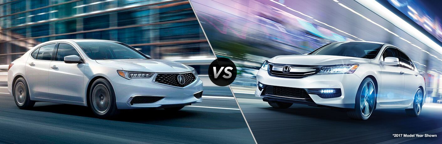 Another side-by-side comparison of the 2018 Acura TLX vs. 2018 Honda Accord