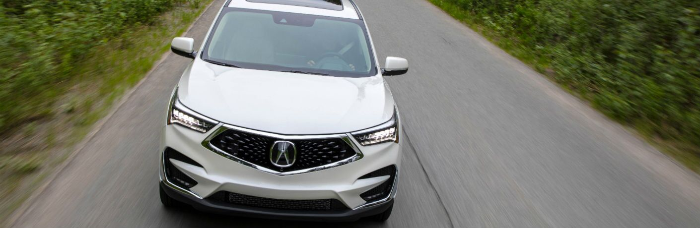An overhead photo of the front end of the 2019 Acura RDX.