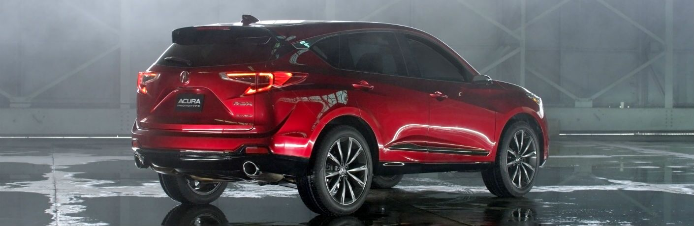 A rear right quarter photo of the 2019 Acura RDX Prototype
