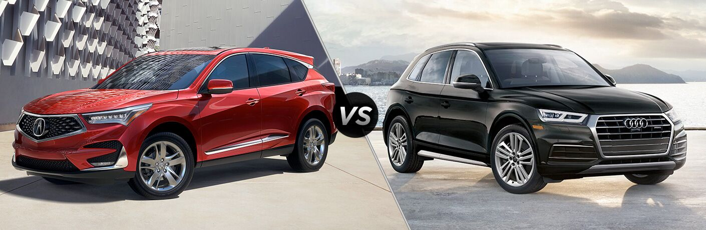 A side-by-side comparison of the 2019 Acura RDX vs. 2019 Audi Q5