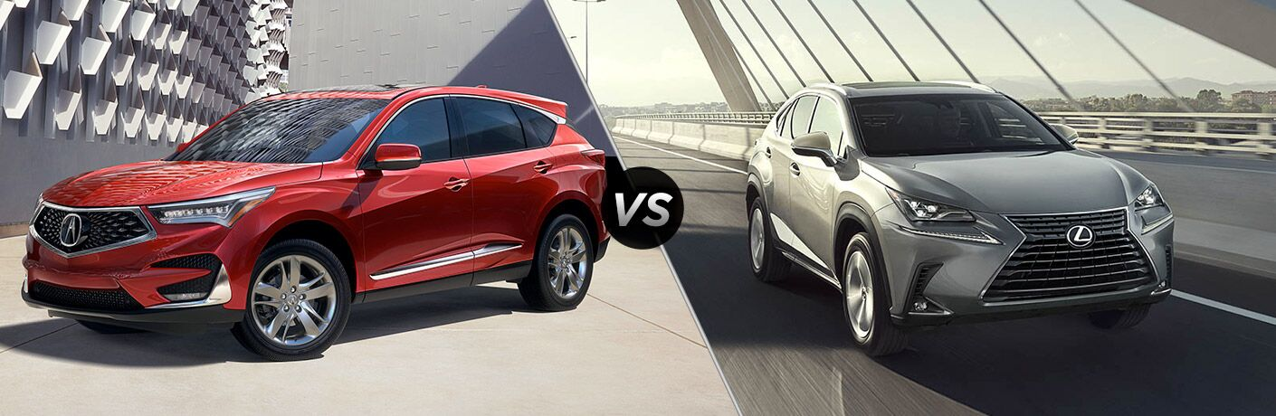 A side-by-side comparison of the 2019 Acura RDX vs. 2019 Lexus NX 300.