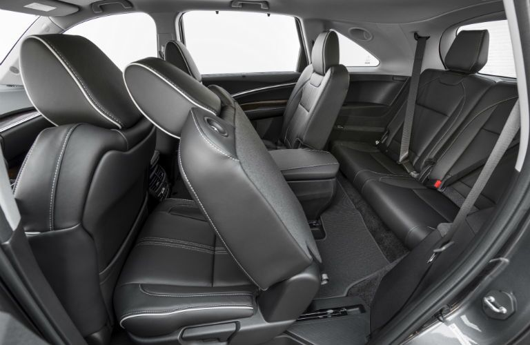 An interior photo of the 2018 Acura MDX Sport Hybrid showing its flexible interior.