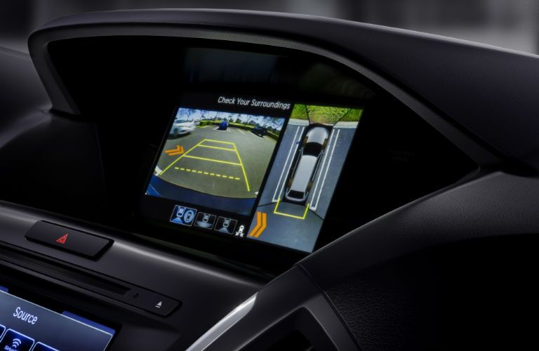 A close up photo of one of the touchscreens available in the 2018 Acura MDX.