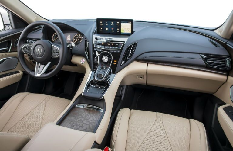 A photo of the front dashboard and all of the technology in the 2019 RDX.