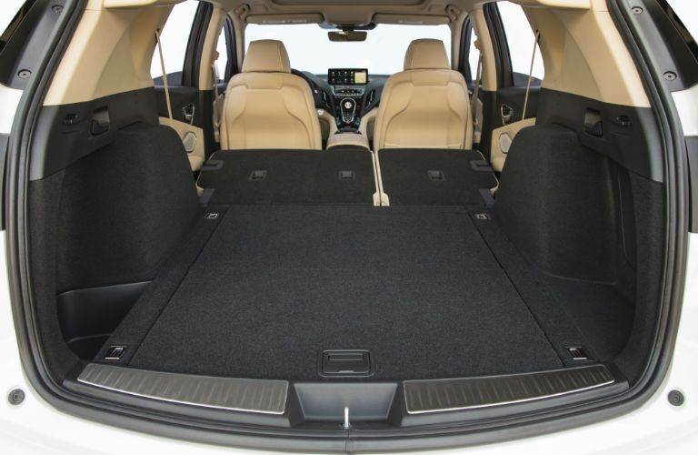 A photo of the max cargo configuration in the back of the 2019 RDX.