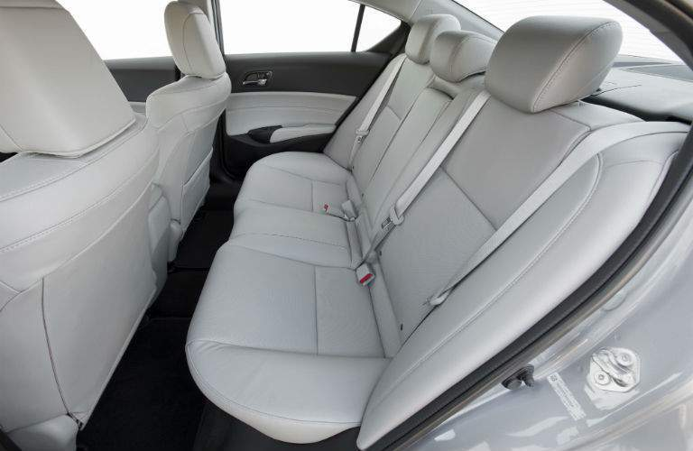 A view of the back seat of the 2018 ILX with white upholstery