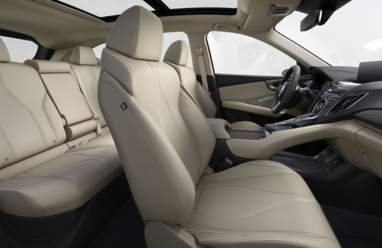 An interior photo showing the front and rear seats of the 2019 Acura RDX Prototype.