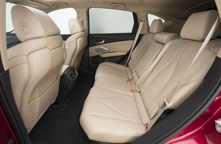 An interior photo showing the available rear legroom in the 2019 RDX Prototype.
