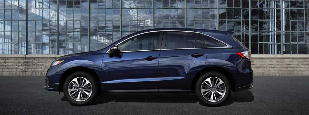 Blue 2018 Acura RDX left profile. Which packages are available with the 2018 Acura RDX