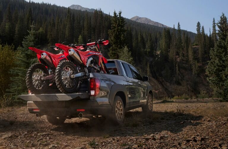 2021 Ridgeline with dirt bikes in box